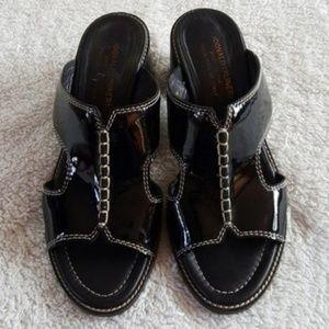 Donald J. Pliner KUZ Italian Patent Leather Slides